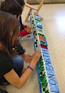 The Alaskan Youth Art Peace Pole will have numerous hand made tiles on it